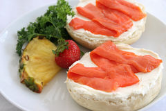Bagel & Lox Closeup Stock Image