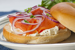 Bagel with Lox Royalty Free Stock Images