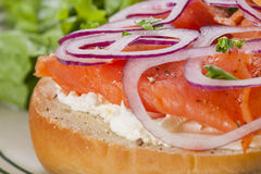 Bagel with Lox Royalty Free Stock Photo