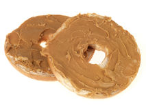 Bagel with Peanut Butter Royalty Free Stock Images