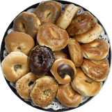 Bagel Platter. Assorted Fresh Bagel Platter for party stock photo