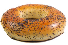 Bagel with a poppy . Royalty Free Stock Photos