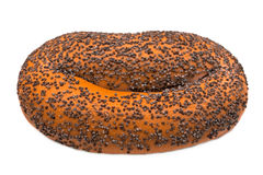 Bagel with poppy seeds Stock Photography