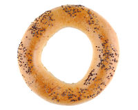 Bagel with poppy seeds Royalty Free Stock Image