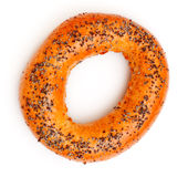 Bagel With Poppy Seeds Royalty Free Stock Photo