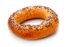 Bagel With Poppy Seeds Stock Photos