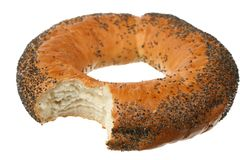 Bagel with poppy seeds Stock Image