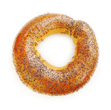 Bagel with poppy seeds Royalty Free Stock Images