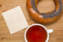 Bagel with poppy seeds Stock Images