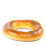 Bagel with poppy seeds on white background. Stock Photography