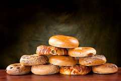 Bagel pyramid Royalty Free Stock Photo