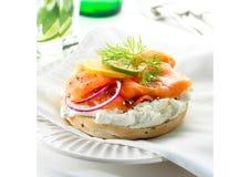 Bagel Salmon imagens de stock royalty free