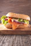 Bagel with salmon Stock Photos