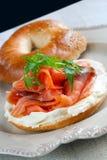 Bagel Salmon fumado Foto de Stock Royalty Free