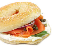 Bagel Salmon fumado Fotos de Stock Royalty Free