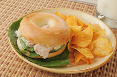 Bagel sandwich Stock Image