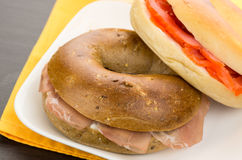 Bagel Sandwich Royalty Free Stock Photography