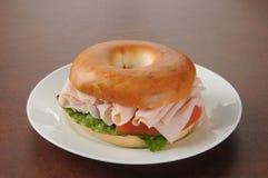 Bagel sandwich Stock Image