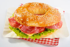 Bagel sandwich Royalty Free Stock Images