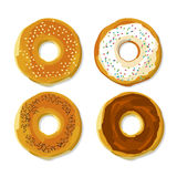 Bagel  with seed flat style poster. Royalty Free Stock Photography