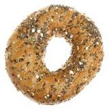 Bagel seminato farina integrale Immagini Stock