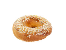 Bagel with sesame Stock Image