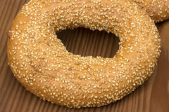 Bagel with sesame seeds Royalty Free Stock Image