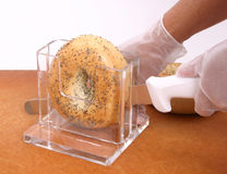 Bagel Slicing Stand Royalty Free Stock Images