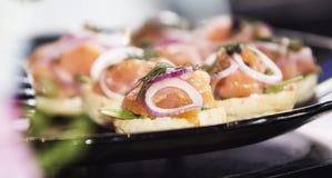 Bagel with Smoked Salmon stock photo
