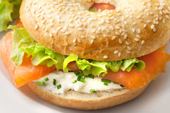 Bagel with Smoked Salmon Stock Photography