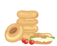 Bagel stack Stock Photo