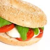 Bagel tomato mozzarella Stock Photography