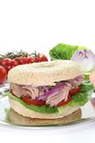 Bagel with tuna Stock Images