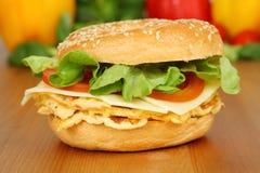 Bagel vegetariano immagine stock