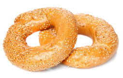 Bagel  on white Royalty Free Stock Photo