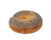 Bagel With Poppy Seeds Royalty Free Stock Photos