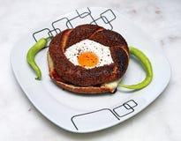 Bagel z jajkiem Zdjęcie Royalty Free