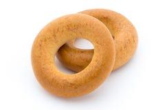 bagels ανασκόπησης απομόνωσαν το λευκό Στοκ Εικόνα