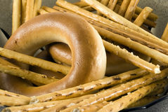 bagels πρωί γεύματος Στοκ εικόνες με δικαίωμα ελεύθερης χρήσης