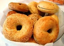 bagels πρόγευμα Στοκ Φωτογραφίες
