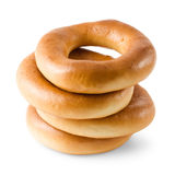 bagels στοίβα Στοκ Εικόνες