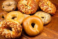 bagels φρέσκα στοκ εικόνες