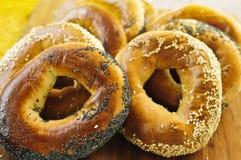 bagels φρέσκα Στοκ Φωτογραφίες