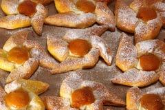 bagels абрикоса испекли свежую Стоковые Фото