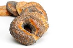 bagels изолировали белизну Стоковые Фотографии RF
