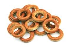 bagels испекли свежую Завтрак бейгл на изолированной белой предпосылке Стоковые Изображения RF