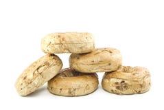 bagels предпосылки белые Стоковые Фото