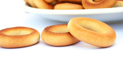 Bagels. Isolated on white background Royalty Free Stock Photo