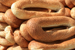 Bagels. For sale in Jerusalem, Old city, Israel Royalty Free Stock Photography