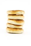 Bagels. Isolated photo of tower of some bagels Stock Photo